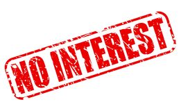 NO INTEREST red stamp text Royalty Free Stock Photography