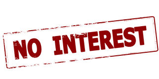 No interest. Rubber stamp with text no interest inside,  illustration Royalty Free Stock Photography