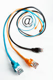 No Internet cabografa a espiral. Imagem de Stock Royalty Free