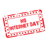No Internet Day. Illustration of a banner for No Internet Day Royalty Free Stock Photo
