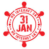 No Internet Day Royalty Free Stock Photo