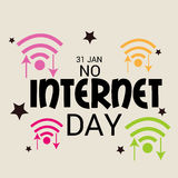No Internet Day Royalty Free Stock Images