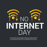 No Internet Day. Illustration of a banner for No Internet Day Royalty Free Stock Image