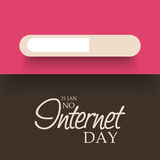 No Internet Day. Illustration of a banner for No Internet Day Royalty Free Stock Images