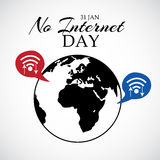 No Internet Day. Illustration of a banner for No Internet Day Stock Photos