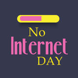 No Internet Day. Illustration of a banner for No Internet Day Stock Images