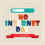 No Internet Day. Illustration of a banner for No Internet Day Stock Photography