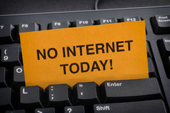 No Internet for Today!. Internet addiction concept royalty free stock photo