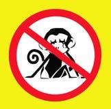 No introduzca a animales salvajes la muestra Fotos de archivo libres de regalías