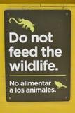 No introduzca la muestra de la fauna Fotografía de archivo libre de regalías