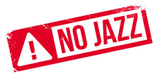 No Jazz rubber stamp Stock Images