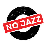 No Jazz rubber stamp. Grunge design with dust scratches. Effects can be easily removed for a clean, crisp look. Color is easily changed Royalty Free Stock Image