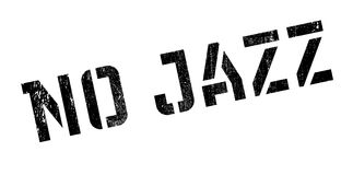 No Jazz rubber stamp Royalty Free Stock Photography