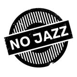 No Jazz rubber stamp. Grunge design with dust scratches. Effects can be easily removed for a clean, crisp look. Color is easily changed Stock Image
