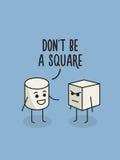 No jest kwadratowego plakata humor ilustracji