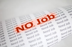 No Job conception Royalty Free Stock Photo