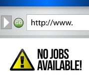 No jobs available Stock Images