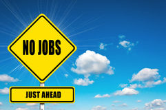 No Jobs just ahead Royalty Free Stock Image