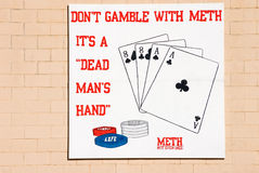 No juegue con Meth Foto de archivo libre de regalías