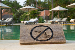 No jump sign Royalty Free Stock Photo