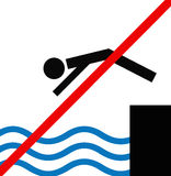 No jump in water Royalty Free Stock Images