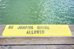 No Jumping Or Diving Royalty Free Stock Images