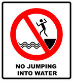 No Jumping Into Water Royalty Free Stock Photography