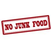 No junk food Royalty Free Stock Photos