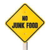 No junk food sign Stock Photo