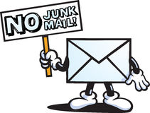 No Junk Mail character Royalty Free Stock Images