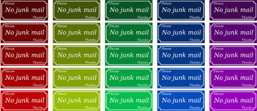 No junk mail labels Stock Photography
