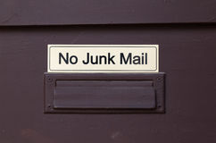 No Junk Mail Royalty Free Stock Images