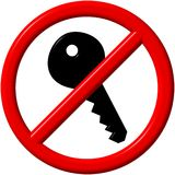 No key. Sign - a computer generated image Stock Images