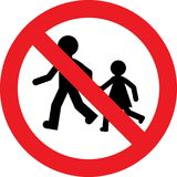 No kids play sign Stock Image