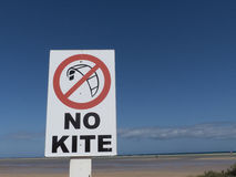 No kite surfing sing post. Royalty Free Stock Images
