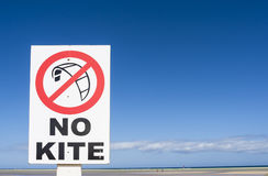 No kite surfing sing post. Royalty Free Stock Photography
