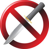 No knife sign color illustration Royalty Free Stock Photo