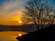No lago Foto de Stock