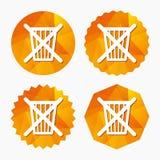 No lance en basura Icono de la muestra de la papelera de reciclaje Imagen de archivo libre de regalías