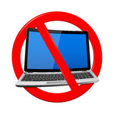 No Laptop Area Royalty Free Stock Photo