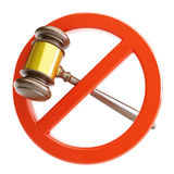 No law. On a white background Stock Photography