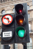 No left turn Stock Image