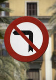 No Left Turn Stock Images