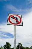 No Left Turn Sign stock photography