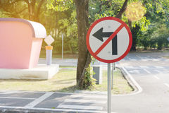 No Left Turn Sign Royalty Free Stock Images