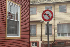 No Left Turn Sign Royalty Free Stock Photo