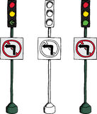 No Left Turn Signal Stock Images