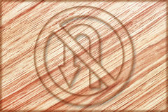 No left u turn sign on wooden board. It is no left u turn sign on wooden board Royalty Free Stock Photo