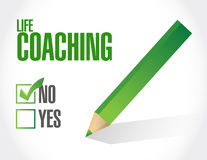 No life coaching approval sign concept Royalty Free Stock Photo