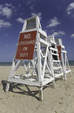 No Lifeguard On Duty Stock Photos